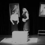 Scène répétée juste avant spectacle dans les cours de théâtre à Paris